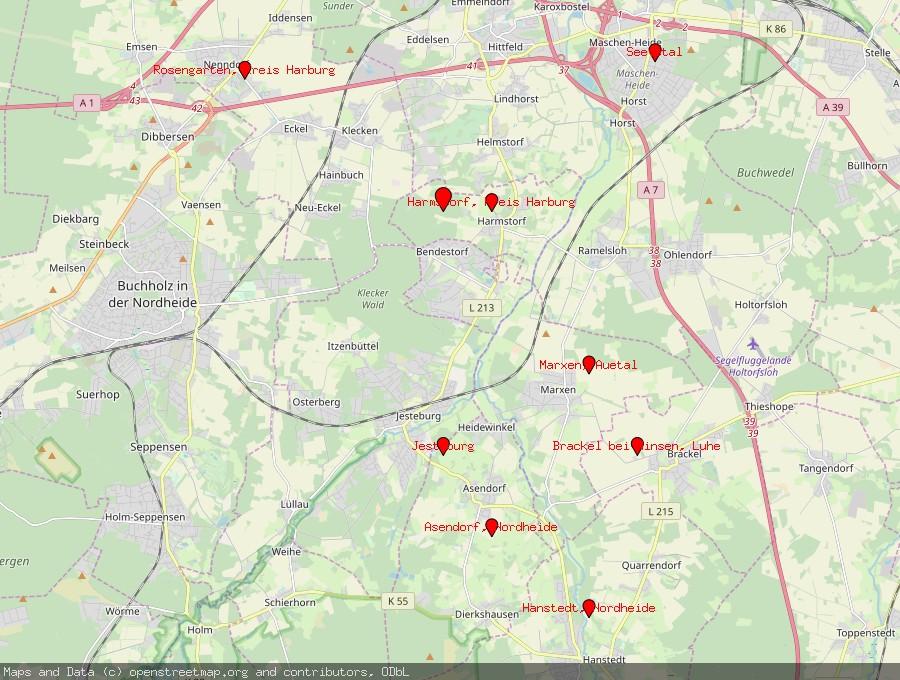 Landkarte von Bendestorf