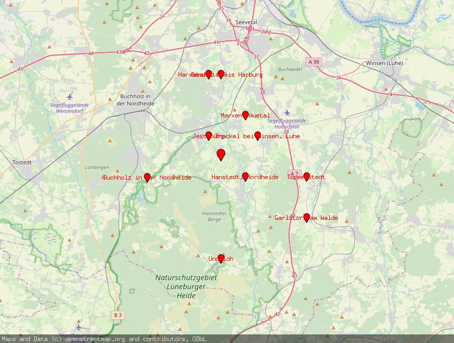 Landkarte von Asendorf, Nordheide