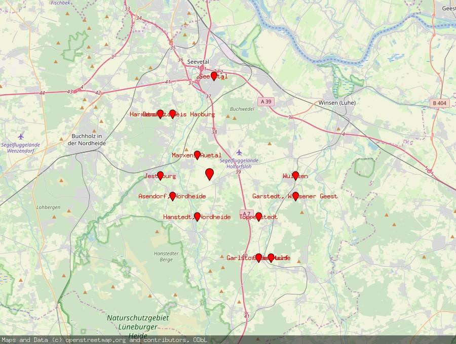 Landkarte von Brackel bei Winsen, Luhe