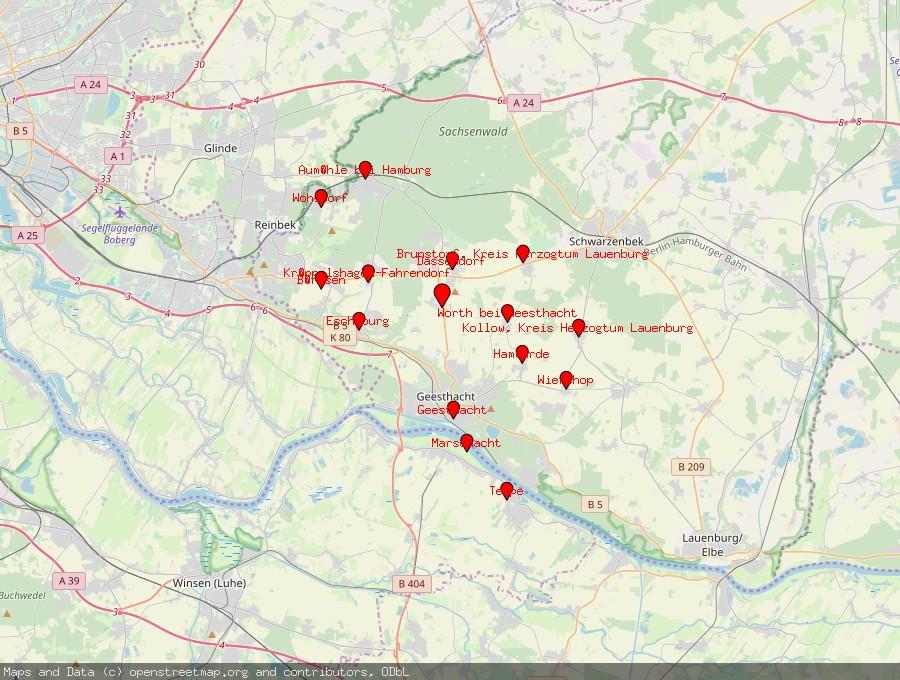 Landkarte von Hohenhorn