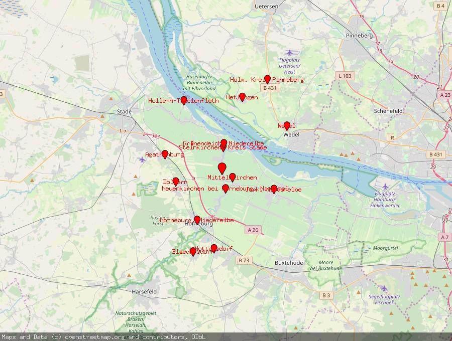 Landkarte von Guderhandviertel
