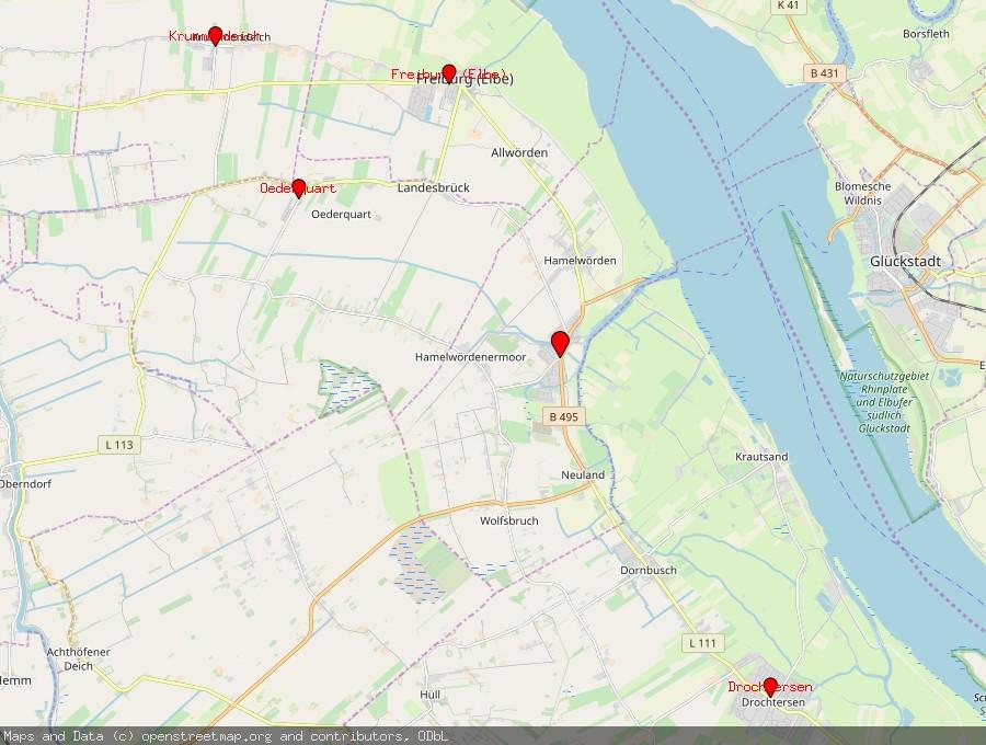 Landkarte von Wischhafen