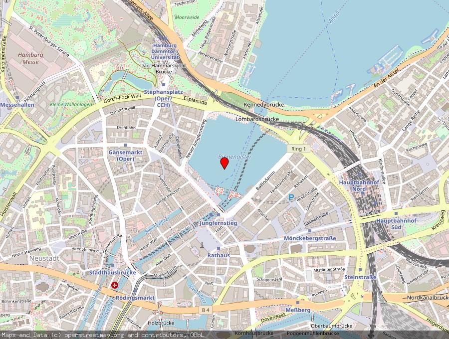 Landkarte von Hamburg