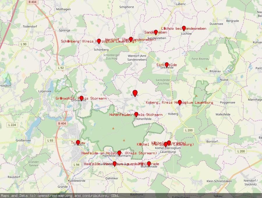 Landkarte von Linau