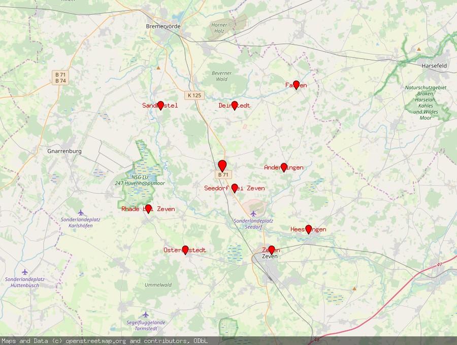 Landkarte von Selsingen