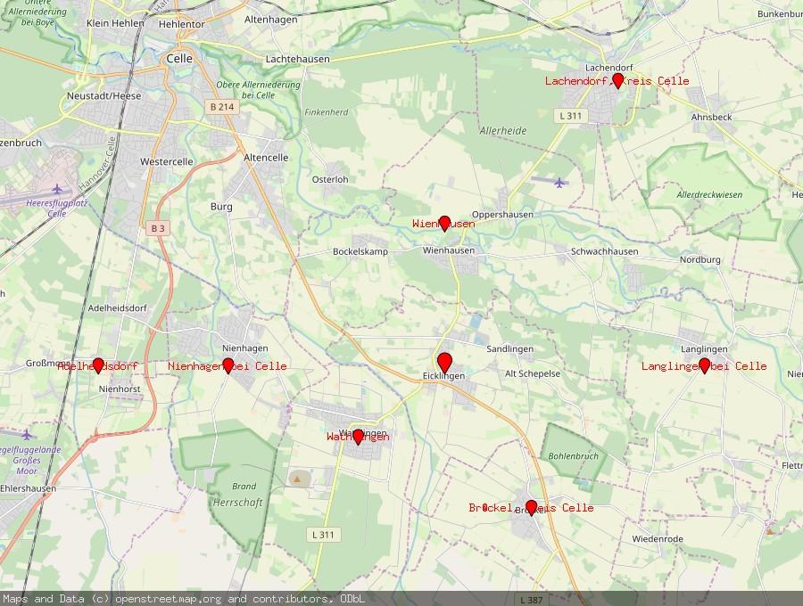 Landkarte von Eicklingen
