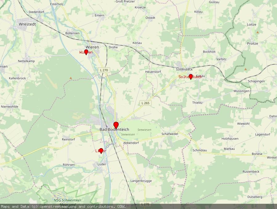 Landkarte von Bad Bodenteich