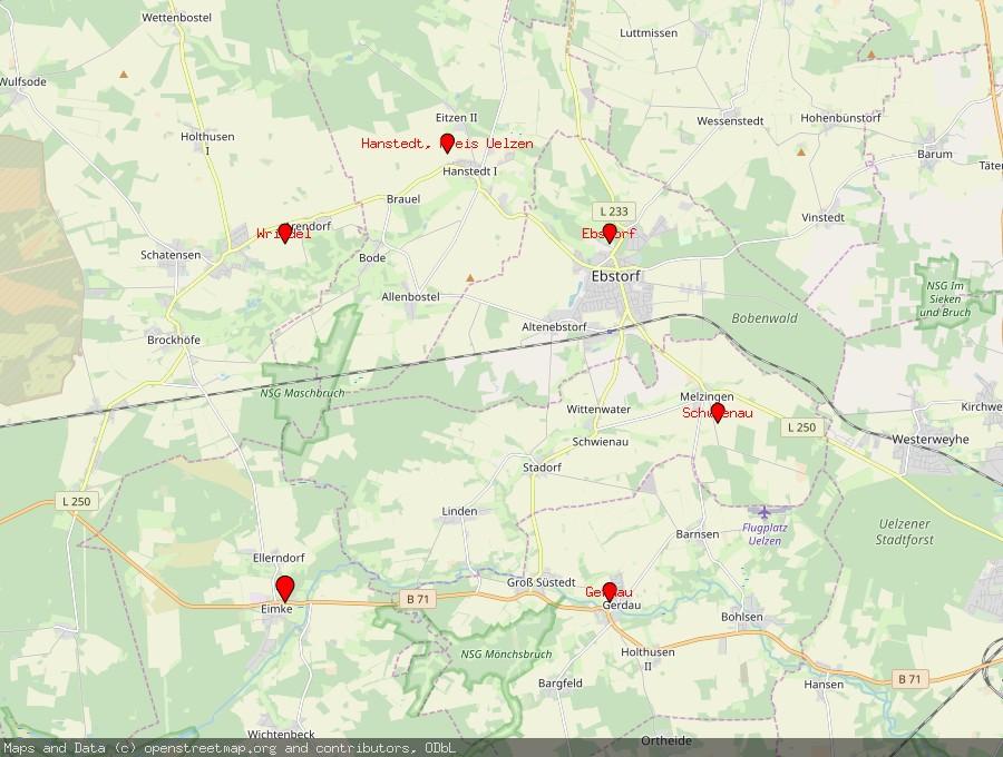 Landkarte von Eimke