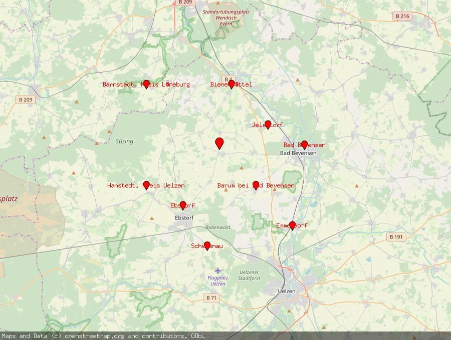 Landkarte von Natendorf