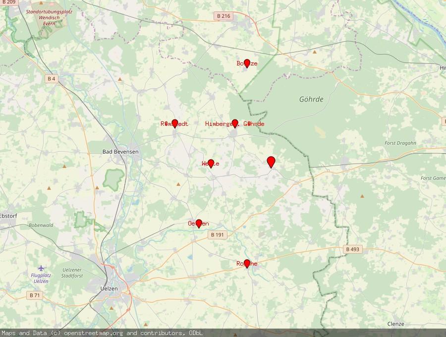 Landkarte von Stoetze