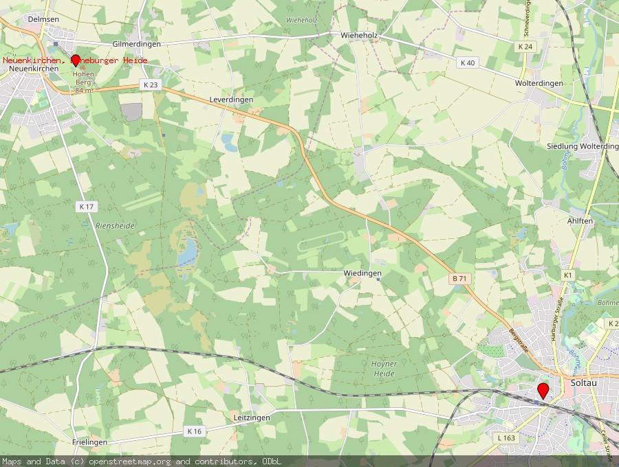 Landkarte von Soltau