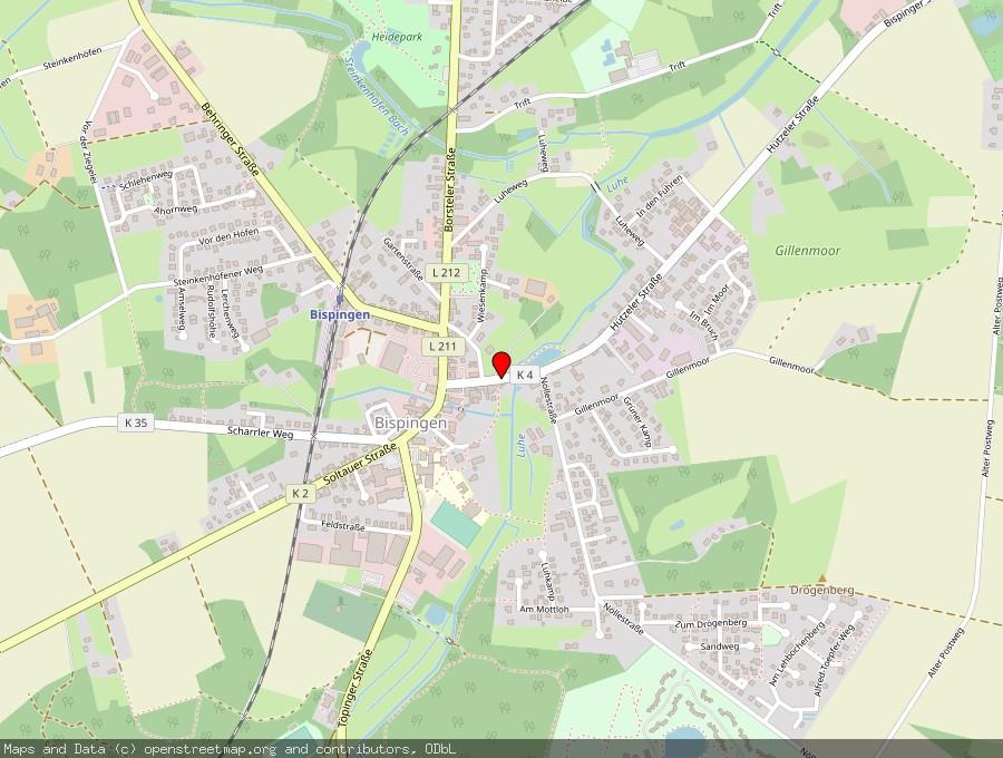 Landkarte von Bispingen