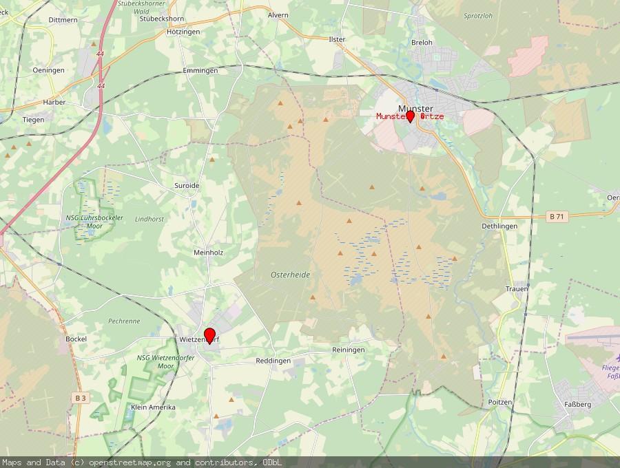 Landkarte von Wietzendorf