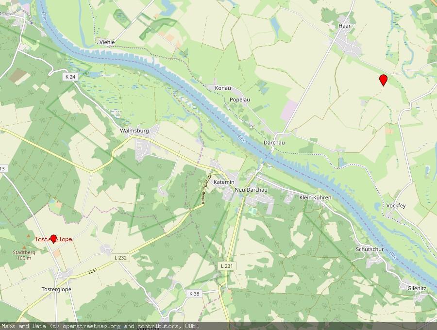 Landkarte von Amt Neuhaus