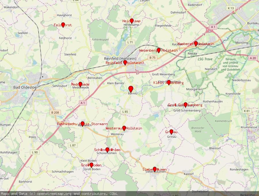 Landkarte von Barnitz, Trave