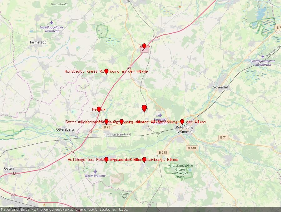 Landkarte von Bötersen