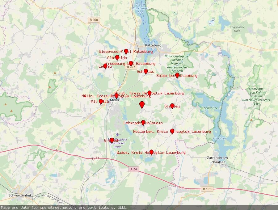 Landkarte von Brunsmark