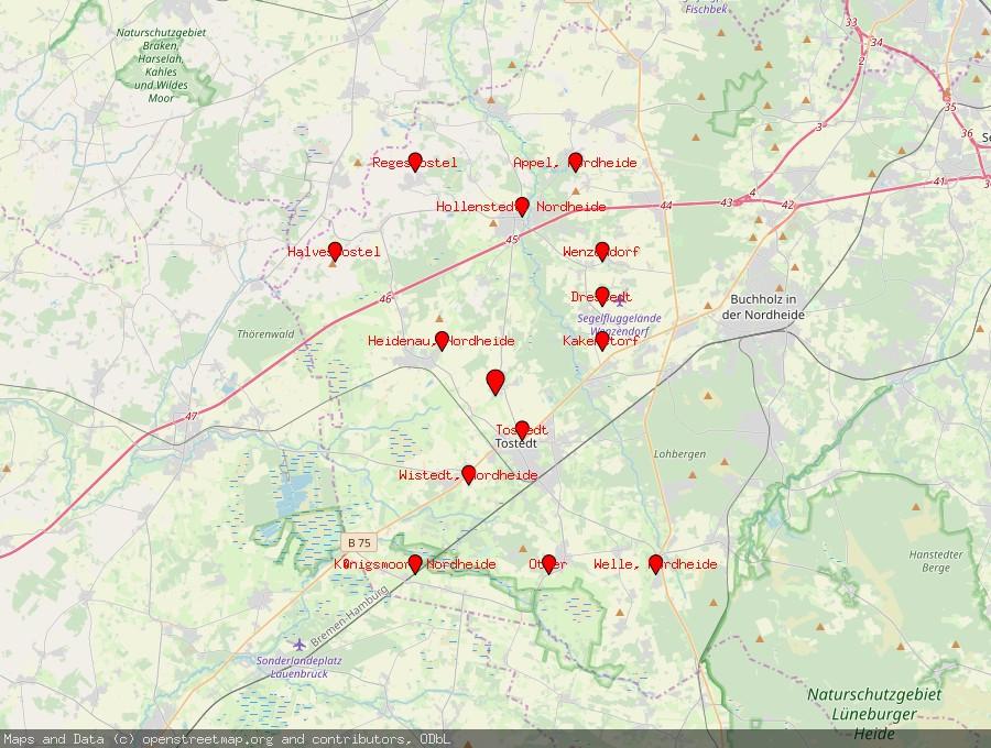 Landkarte von Dohren, Nordheide