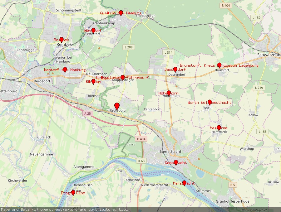 Landkarte von Escheburg