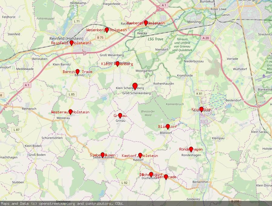 Landkarte von Groß Schenkenberg