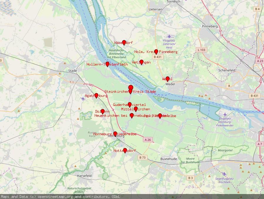 Landkarte von Grünendeich, Niederelbe