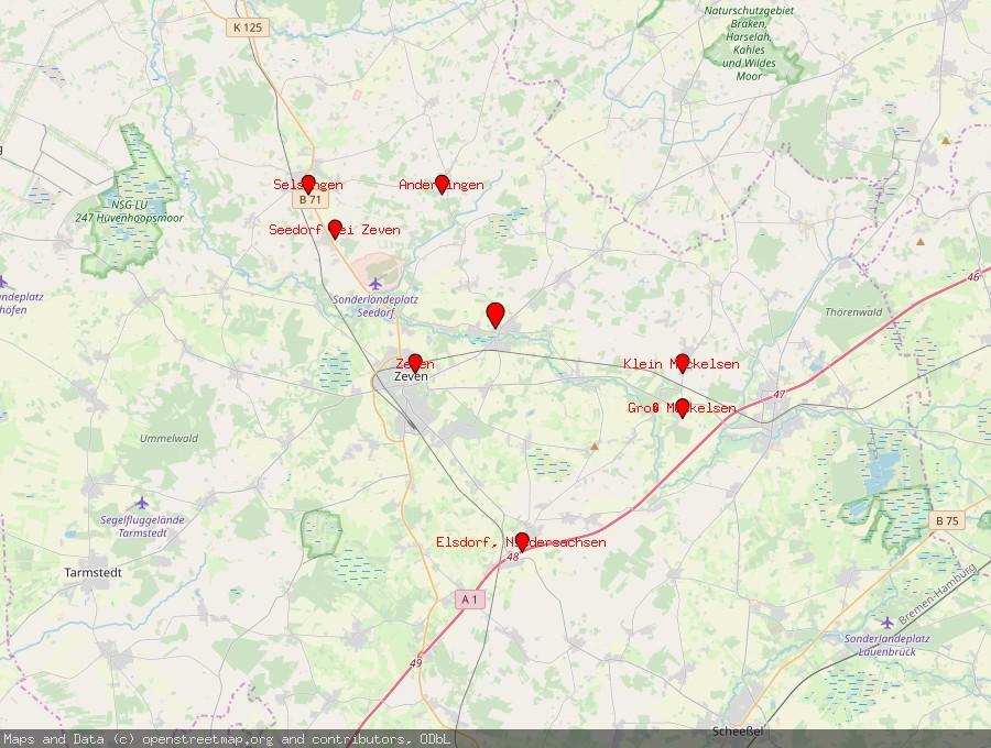 Landkarte von Heeslingen