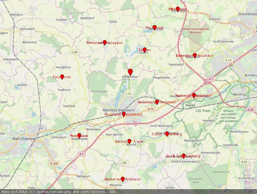 Landkarte von Heidekamp