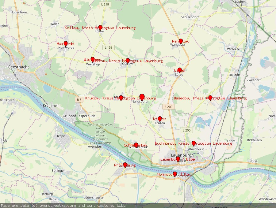 Landkarte von Juliusburg