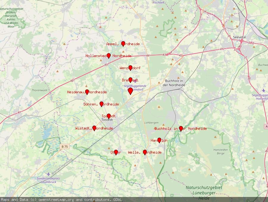 Landkarte von Kakenstorf