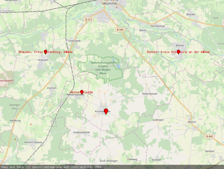 Landkarte von Kirchwalsede