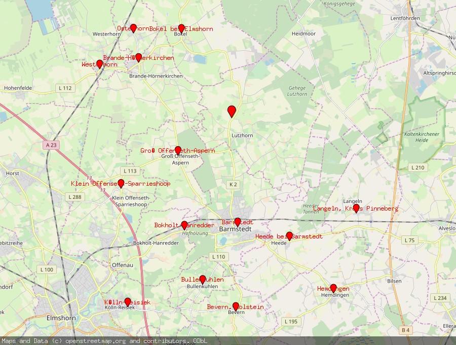 Landkarte von Lutzhorn