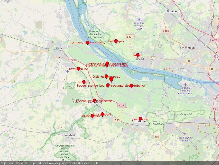Landkarte von Mittelnkirchen