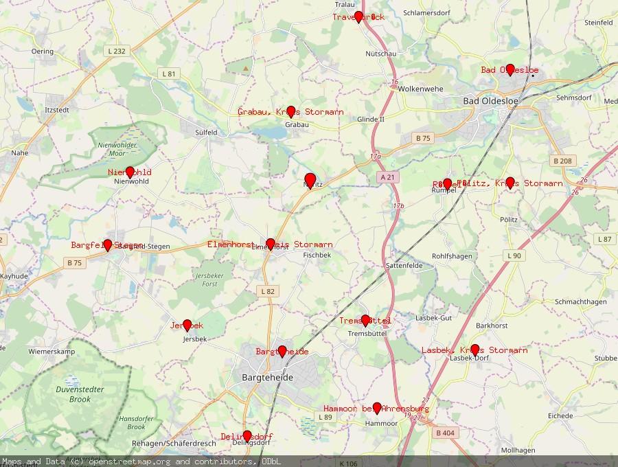 Landkarte von Neritz bei Bad Oldesloe