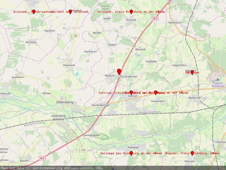 Landkarte von Reeßum