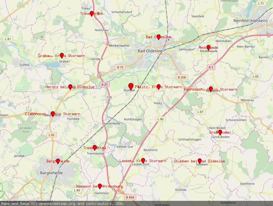 Landkarte von Rümpel